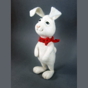 needle-felted-white-bunny-with-red-scarf
